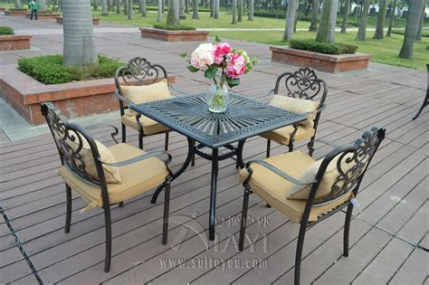 5 piece cast aluminum durable garden furniture set used