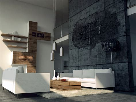 betonwand wohnzimmer livingroom and broken concrete v 2 by opengraphics on