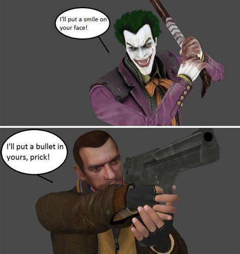 Meme And Niko - injustice the joker vs niko bellic by xxtrettaxx on
