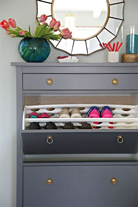 wedded hemnes shoe cabinets twined and painted ikea painted ikea hemnes shoe cabinet organize pinterest
