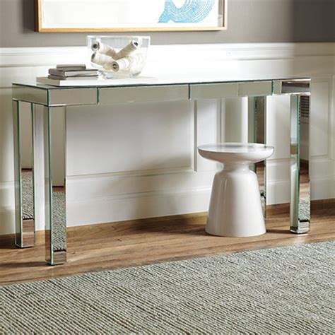 Diy Mirrored Desk Home Dzine Home Diy Diy Ideas For Console Tables