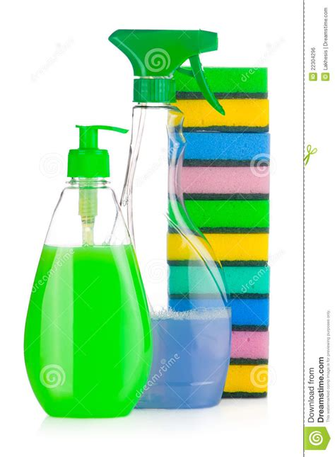House Supplies by House Cleaning Supplies Royalty Free Stock Image Image