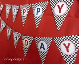 Cars Birthday Banner Template by Race Car Printable Happy Birthday Banner Instant