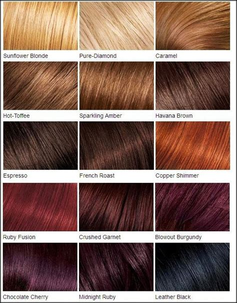 loreal feria hair color chart fall in with hair color chart hair fashion
