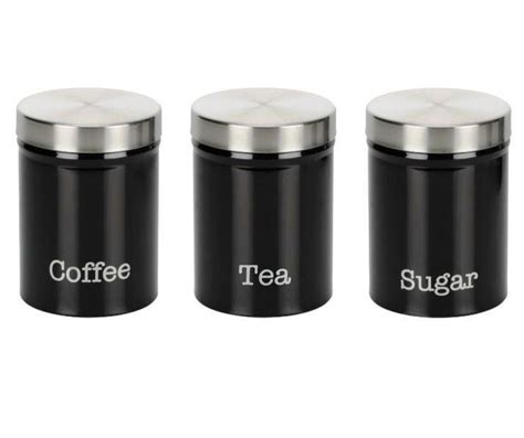 black kitchen canister sets kitchen canister set black radionigerialagos com