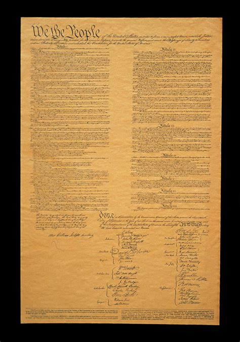 Indian Home Decor Online by The Original United States Constitution Photograph By