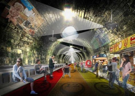 designboom underground nbbj plans to turn london underground into moving walkway