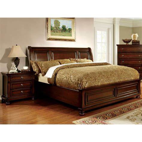 california king bed set furniture of america caiden 2 piece california king