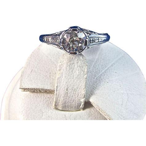 antique edwardian 1905 engagement ring platinum