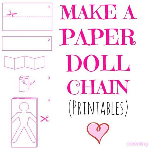 How Do You Make A Paper Doll Chain - best 25 paper doll chain ideas on on the doll