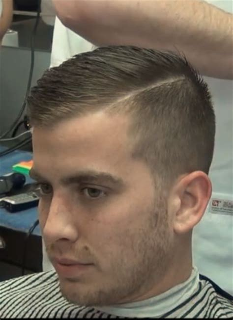 mens haircut 1 5 on sides and scissor cut on top short hair side part men hair style pinterest short