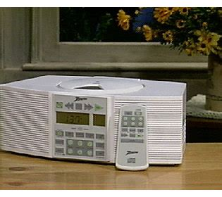 zenith am fm tv band cd stereo clock radio qvc