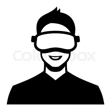 Virtual Home Design Plans virtual reality headset icon on white background vector