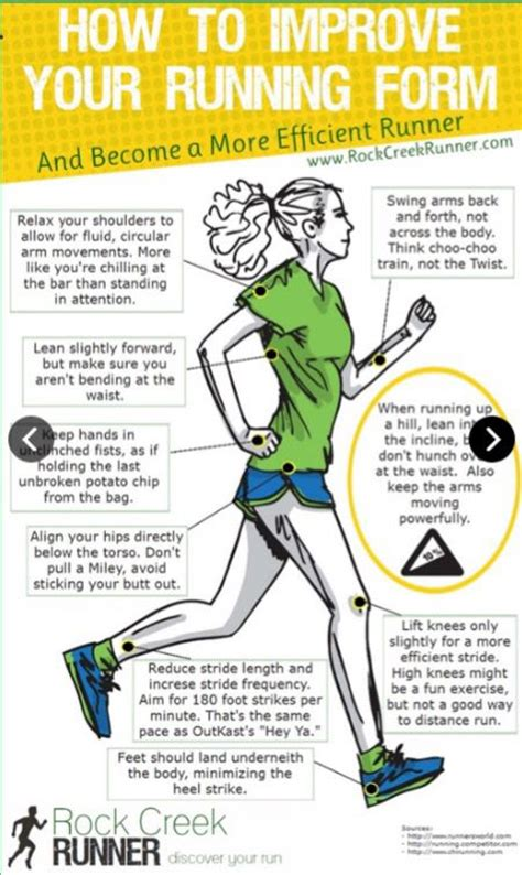 9 tips to improve running how to improve your running form runningform tips beginners fitness running