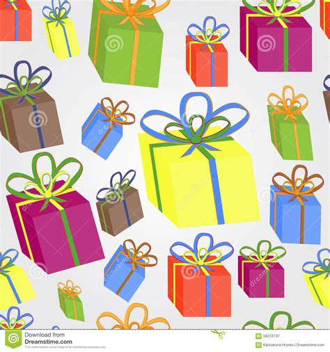 gift pattern vector gift wrapping stock vector image 58273747
