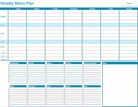 45 Printable Weekly Meal Planner Templates Kitty Baby Love Free Weekly Meal Planner Template With Grocery List