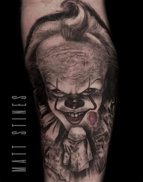 no regrets tattoo chaign il pennywise by matt stines tattoos