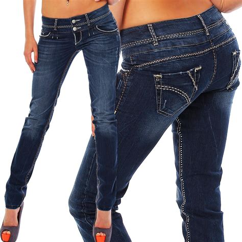 ebay jeans cipo baxx damen jeans cbw 578 skinny blau damenjeans