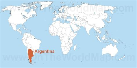 where is argentina on the world map argentina maps maps of argentina ontheworldmap