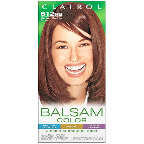 medium reddish brown hair color clairol clairol balsam hair color 612rb medium reddish