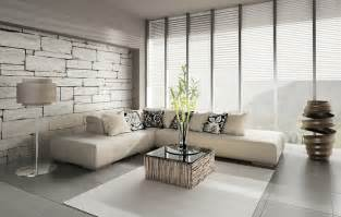 brick wallpaper decor minimalist living room interior design