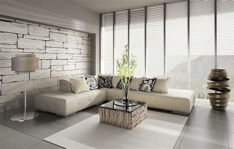 living room with brick wallpaper brick wallpaper decor minimalist living room interior design