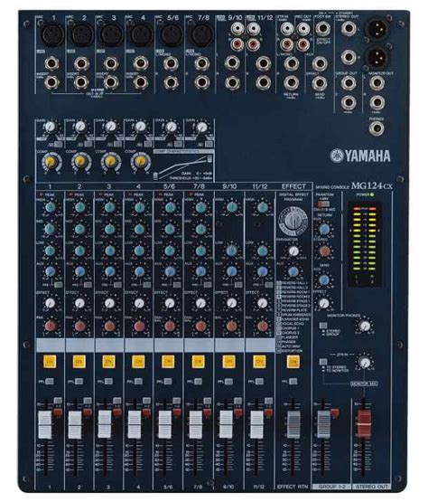 Li Mixer Yamaha Mg 124 Cx 12 Channel yamaha mg124cx 12 channel 4 analog mixer with built