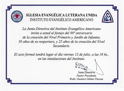 invitacion para aniversario de iglesia formato de invitaci 243 n aniversario iglesia imagui