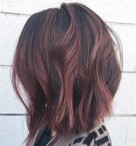 mahoganey hair with highlights 17 best ideas about choppy bobs on pinterest medium