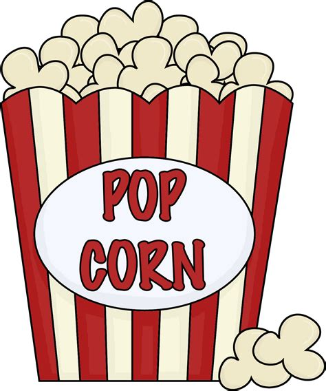 popcorn clip black and white free clipart images