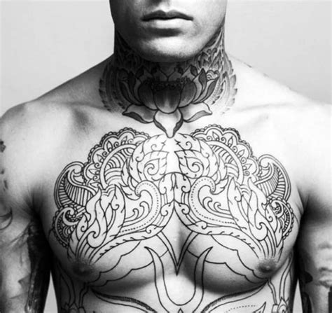 tattoo on the chest for men the 100 best chest tattoos for improb