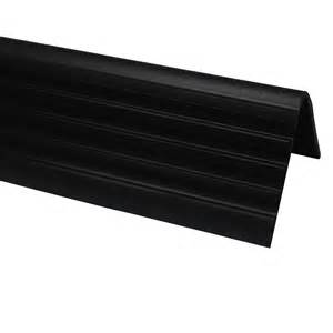stair nosing home depot shur trim vinyl stair nosing black 1 7 8 inch the