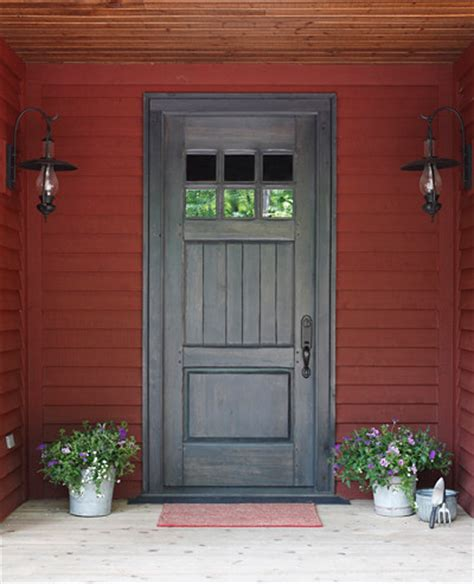 Cottage Style Exterior Doors Muskoka Cottage At Oviinbyrd Golf Course Traditional Front Doors Other Metro By