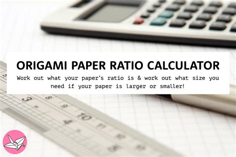 Origami Calculator - origami paper ratio calculator work out what paper size