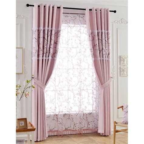 pink print curtains pink print floral linen custom modern curtain for windows