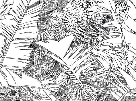 black and white jungle wallpaper wallpaper jungle l 233 1 by tiphaine de bodman objets