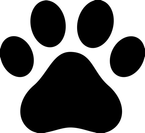 Free Coloring Pages Of Dog Paw Print Paw Print Silhouette