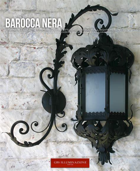 Shabby Chic Table Lamp by Barocca Lanterna Nera Gbs Illuminazione Ferro