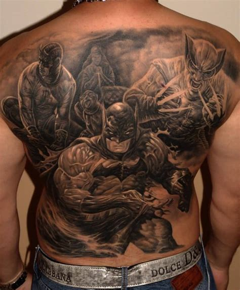 x tattoo 3d batman tattoos truetattoos