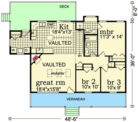 vaulted ceiling floor plans vaulted ceilings 88445sh architectural designs house