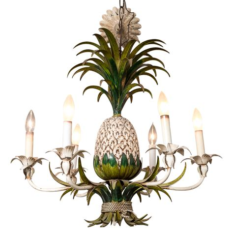 Pineapple Chandelier Italian Painted Metal Vintage Pineapple Chandelier On Antique Row West Palm Florida