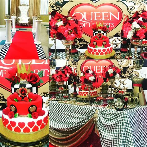 queen themed birthday party queen of hearts birthday party ideas photo 3 of 23