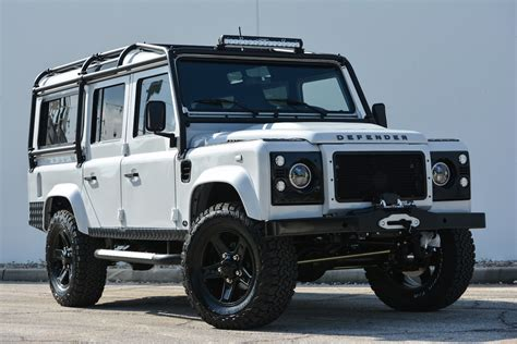 land rover defender white this custom land rover defender is a bone white beauty maxim