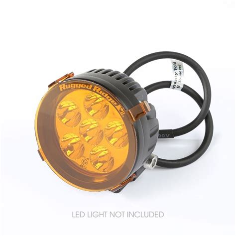 3 inch led lights 3 5 inch led light cover by rugged ridge