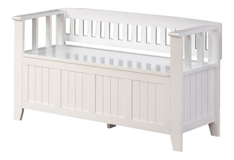 amazon benches amazon com simpli home acadian entryway bench white