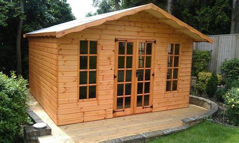 garden chalet shed plans ksheda hideaway summer house new line sheds reading berkshire