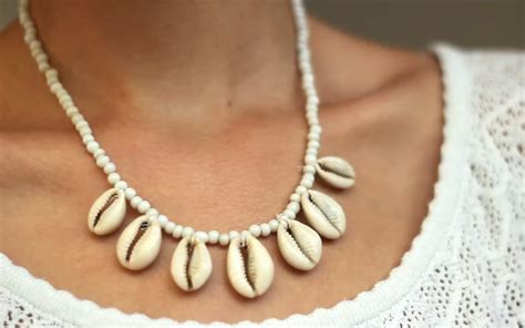 how to make jewelry from shells diy shell necklace