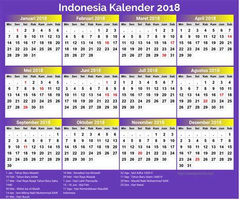 printable calendar 2018 indonesia 2018 new year indonesian printable calendar printable