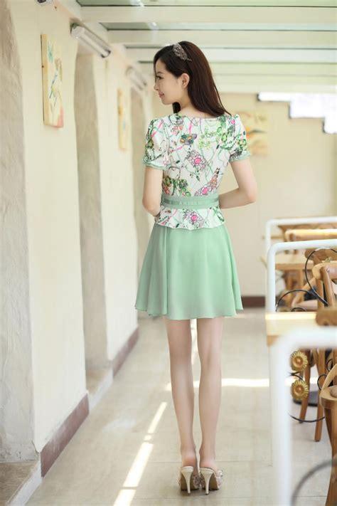 Jes Ps0714 Mini Dress Brokat Import Korea Dress Gaun Pesta korean fashion sweet chiffon dress neck working