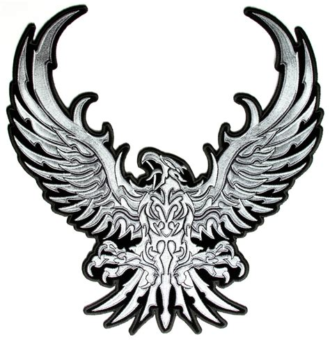 silver eagle tattoo hours tribal eagle clipart best